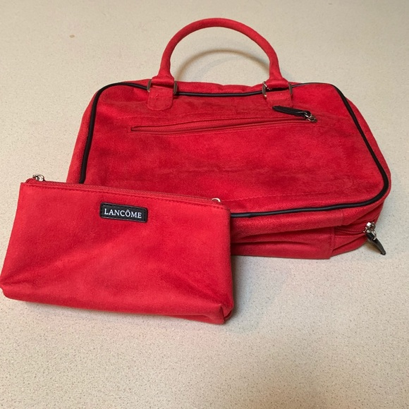 Lancome Other - Red LANCOME Travel Makeup Case FULL SIZE